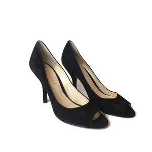 Enzo Angiolini leather upper peep toe heels NEW